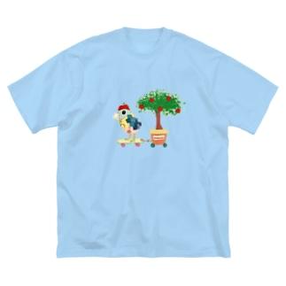 ROBOBOロボボ りんご屋さん Big silhouette T-shirts
