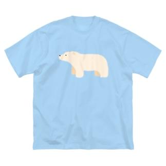 しろくま Big silhouette T-shirts