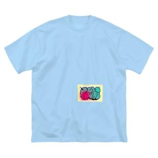 graffiti FAKE シール Big silhouette T-shirts