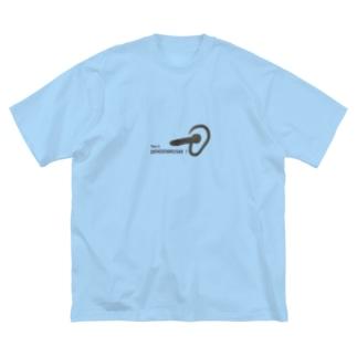 デンデンムシ Big silhouette T-shirts