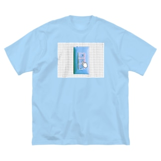 Updated Blue Switch ver.2 Big silhouette T-shirts