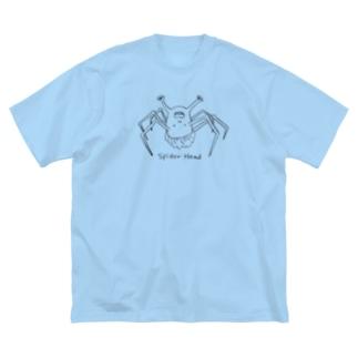 spider head(スパイダーヘッド) Big silhouette T-shirts