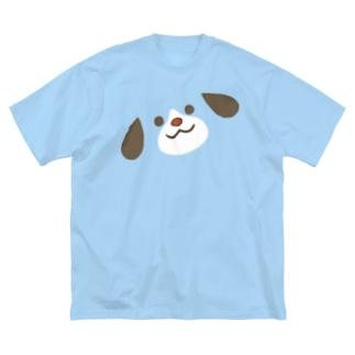 ほんわか通りのわんこさん(BIG FACE) Big silhouette T-shirts