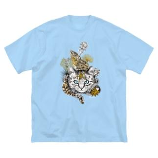 磯猫 Big silhouette T-shirts