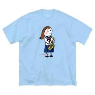 アルトサックス女子 Big silhouette T-shirts