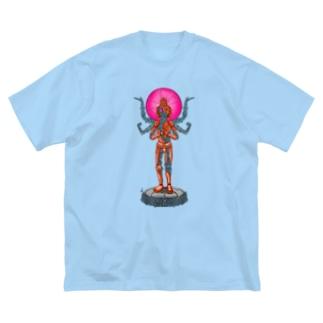 メカニック阿修羅 Big silhouette T-shirts