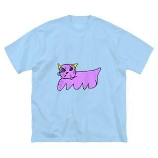 ねこ Big silhouette T-shirts