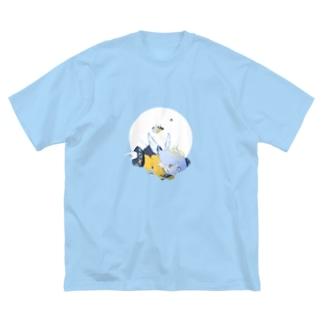 天使ちゃん プリントTシャツ Big silhouette T-shirts