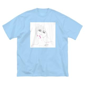 Lipstick_blood Big silhouette T-shirts