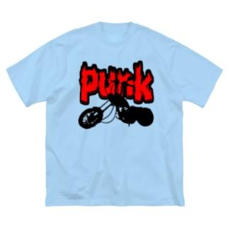パンクバイカーズ Big silhouette T-shirts