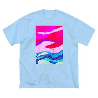 なつやすみ Big silhouette T-shirts
