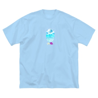 Moon Soda Big silhouette T-shirts