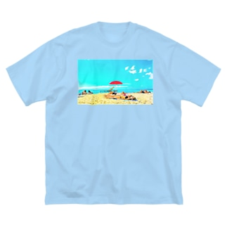 ワイキキビーチ🌊 Big silhouette T-shirts