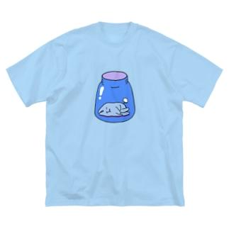 ぶるーびんくん Big silhouette T-shirts