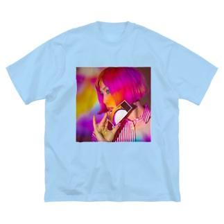 ピンキーピエロピンナップ🤡PPP Big silhouette T-shirts
