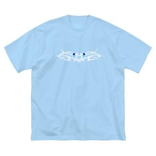 tribal eye-shiro- Big silhouette T-shirts