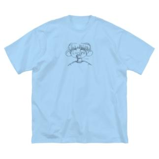 決意が弱いboy Big silhouette T-shirts