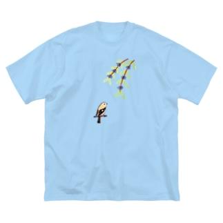 紫乃のジョビ子とコムラサキ Big silhouette T-shirts