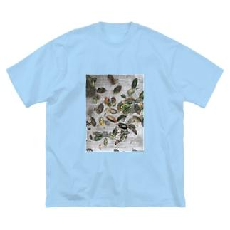 柿の葉 Big silhouette T-shirts