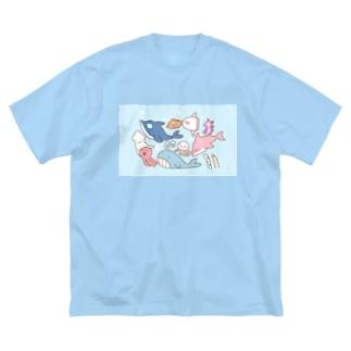 海のお友達 Big silhouette T-shirts