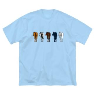 【うまけつ】サラブレッド Big silhouette T-shirts