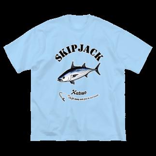 猫と釣り人のKATSUO_6_C Big silhouette T-shirts