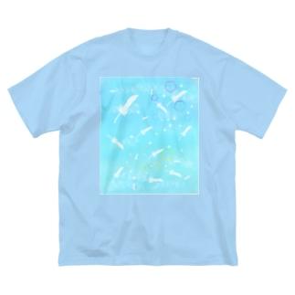 天界 Big silhouette T-shirts