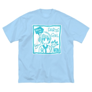 GAME ON! 【SWEET LIGHTBLUE】 Big silhouette T-shirts