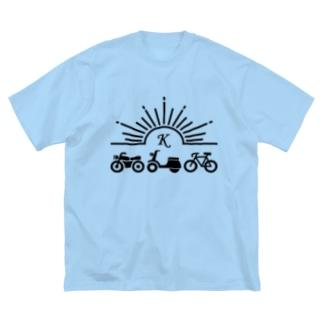 Koyagimotors ロゴBlack Big silhouette T-shirts