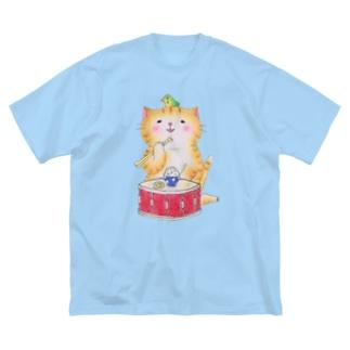 スネア猫 Big silhouette T-shirts