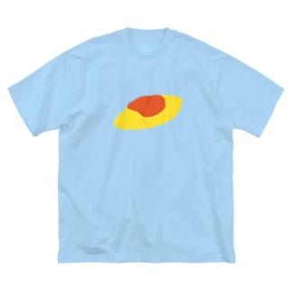 オムレツ Big silhouette T-shirts
