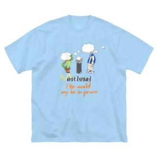 world peace Big silhouette T-shirts