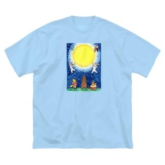 「月夜の音楽会」 Big silhouette T-shirts