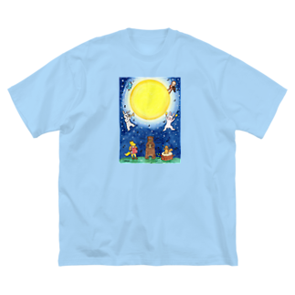 KIRARIの夢色雑貨屋さんの「月夜の音楽会」 Big silhouette T-shirts