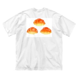イラストによる食卓。3つのロールパン Big silhouette T-shirts