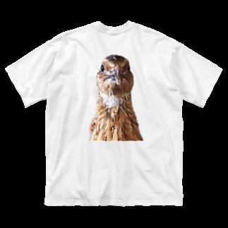 うずぴよのガン見ウズラ Big silhouette T-shirts