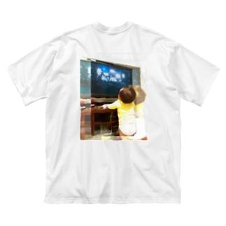 musicshop BOBの配信ライヴ - live streaming Big silhouette T-shirts
