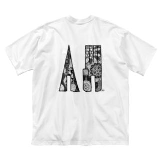 自己表現 B Big silhouette T-shirts