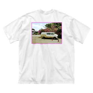 YAKYUBO STOREのHawaii TEE (バックプリント) Big silhouette T-shirts