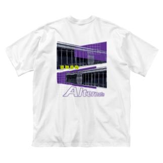 Alternate (両面) Big silhouette T-shirts