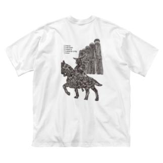 仙台に住んでたり出身だったり働いてたり旅したことあったり大好きだったりする人用(文字黒) Big silhouette T-shirts
