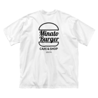 MinatoBurgerグッズ(ブラック) Big Silhouette T-Shirt