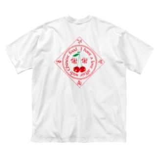 中華(桜桃尻)中毒 Big silhouette T-shirts