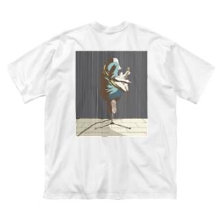葵 ライブ Big silhouette T-shirts