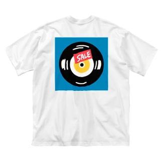 売れ残りレコード Big silhouette T-shirts