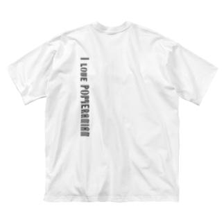 I love POMERANIAN Big silhouette T-shirts
