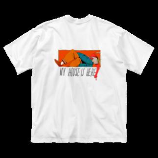 ヤニ村カス美のBULKY BAGGAGE(背面プリント) Big silhouette T-shirts