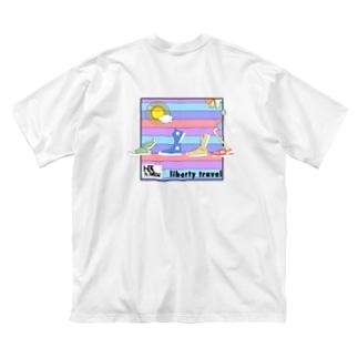 両面印刷故高価 Big silhouette T-shirts