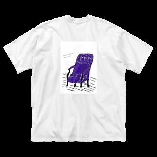 spamonigiriの主人を待つ椅子 Big silhouette T-shirts