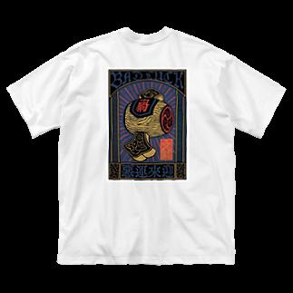 御執行 OSIKKOのぴぇん3 Big silhouette T-shirts